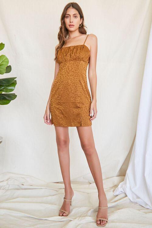 BROWN Leopard Print Mini Dress, image 4
