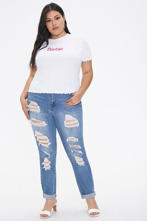 Plus Size Ribbed Barbie™ Tee, image 4