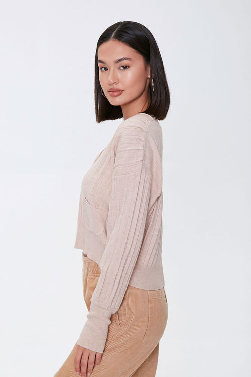 Ribbed Buttoned Cardigan, image 2