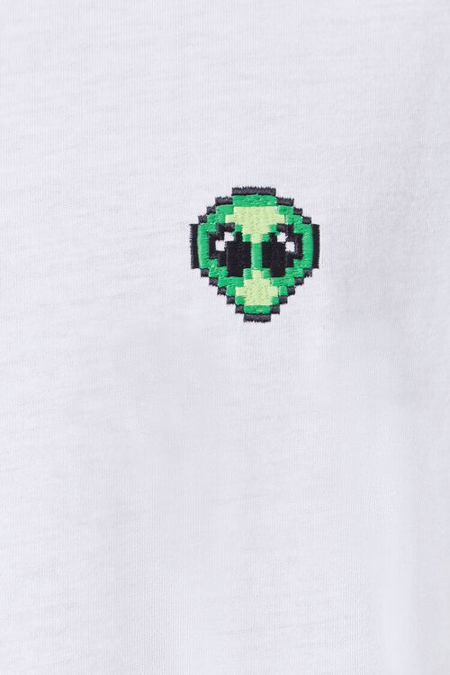 Alien Embroidered Graphic Tee, image 5