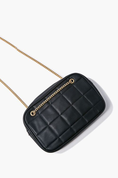 BLACK Quilted Crossbody Bag, image 3
