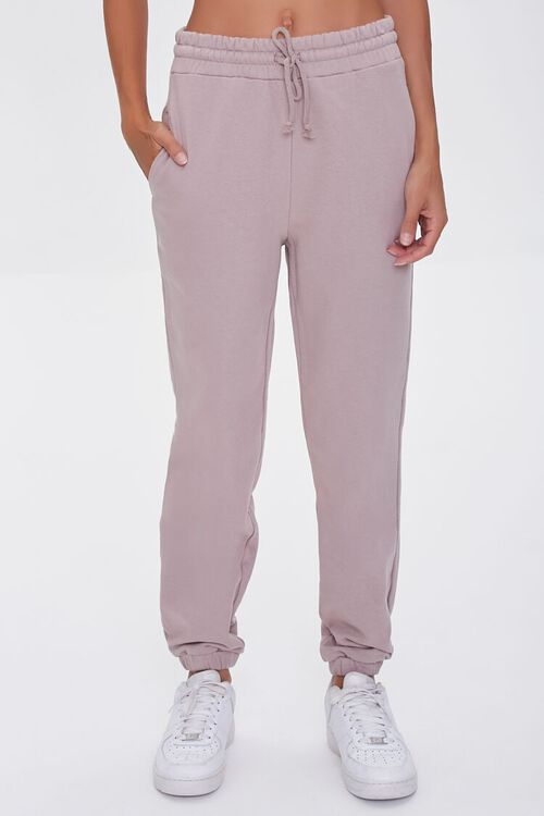 TAUPE French Terry Drawstring Joggers, image 2