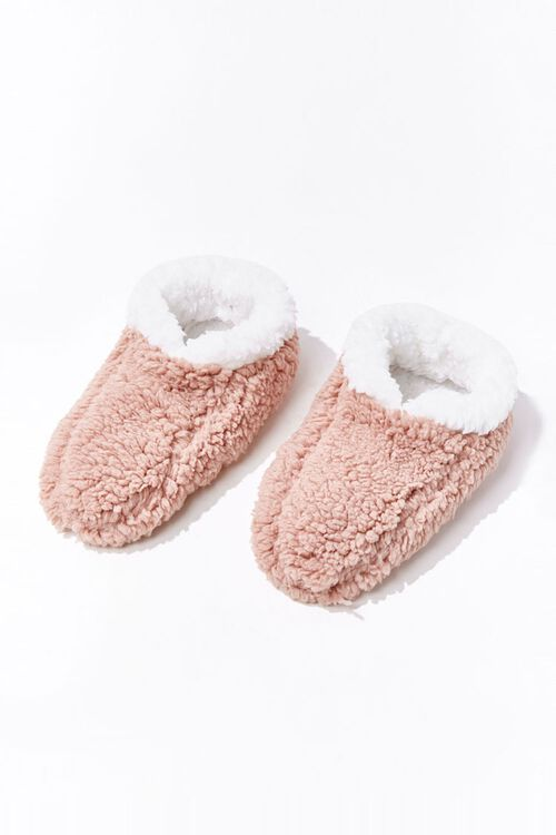 Faux Shearling Indoor Slippers, image 1