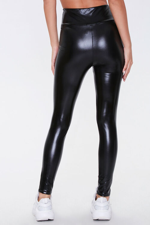 Active Faux Leather Leggings, image 4