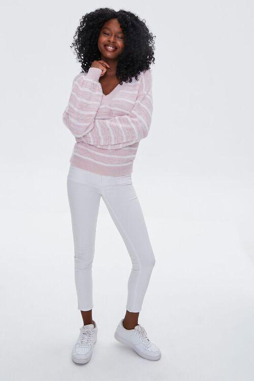 Striped Fuzzy Knit Sweater, image 4