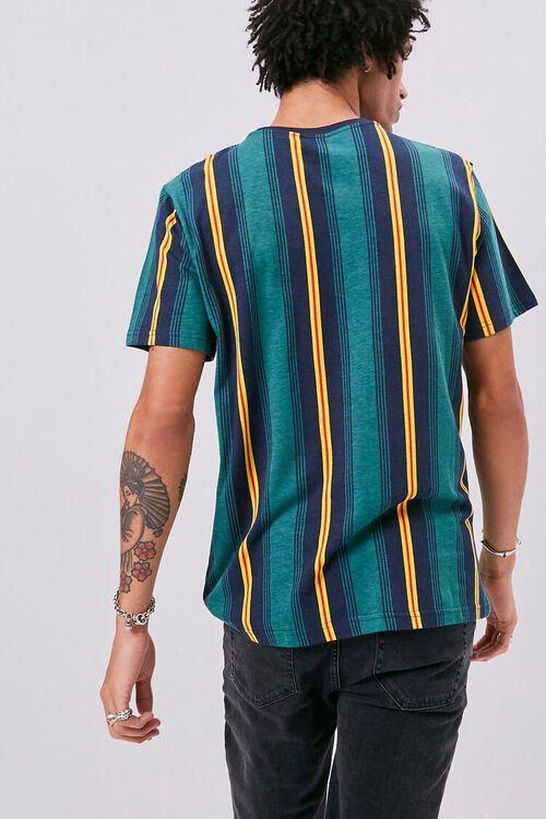 Striped Print Crew Neck Tee, image 3