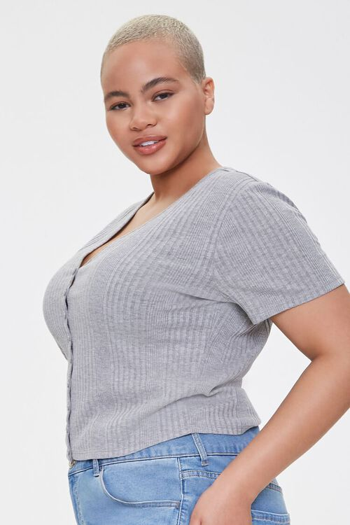 Plus Size Button-Up Tee, image 2