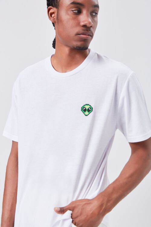 Alien Embroidered Graphic Tee, image 1