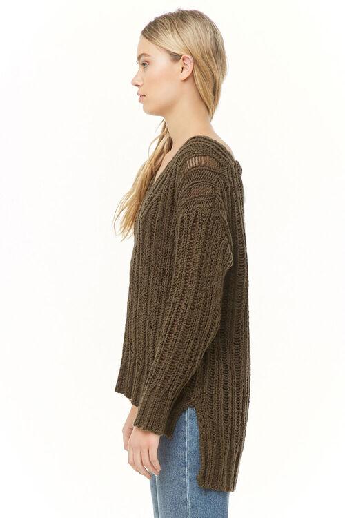 OLIVE V-Neck High-Low Sweater, image 2