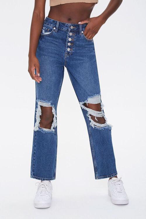 Distressed Mom Ankle Jeans, image 2