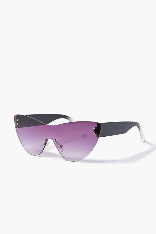 BLACK/BLACK Rimless Cat-Eye Sunglasses, image 2
