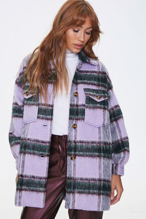 Brushed Plaid Flap-Pocket Coat, image 5