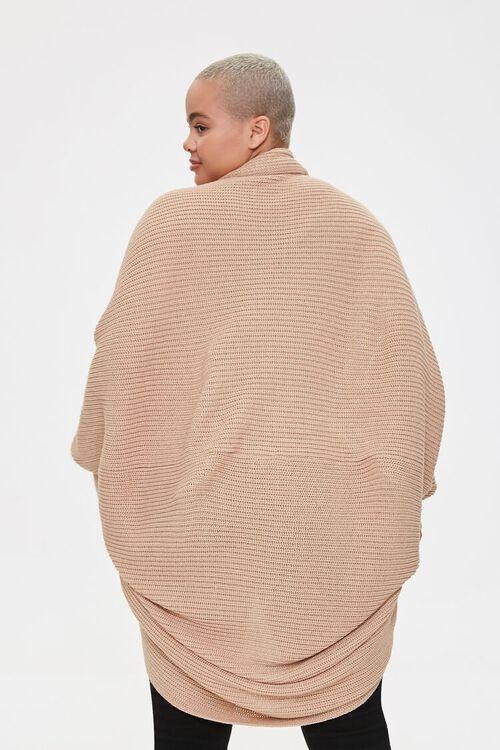 Plus Size Cocoon Cardigan Sweater, image 3