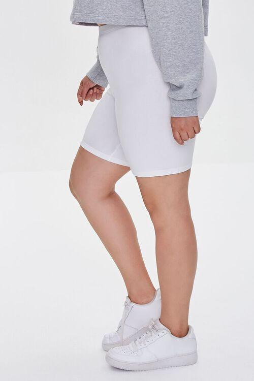 Plus Size Organically Grown Cotton Basic Biker Shorts, image 3
