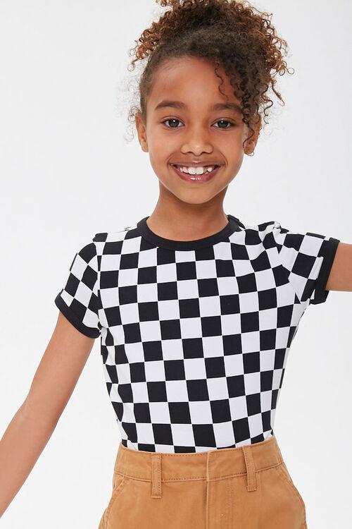 Girls Checkered Ringer Tee (Kids), image 5