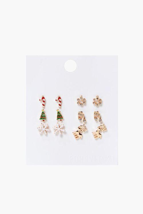 Assorted Christmas Stud Earring Set, image 1