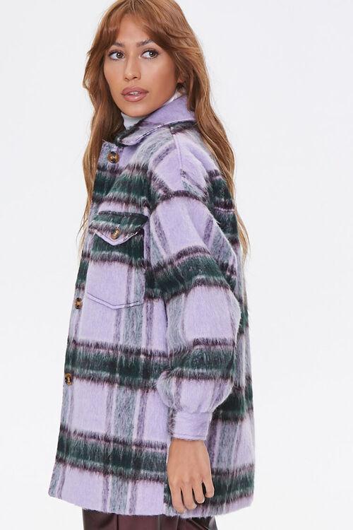 Brushed Plaid Flap-Pocket Coat, image 2