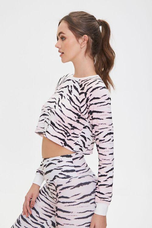 PINK/MULTI Active Tiger Print Crop Top, image 2