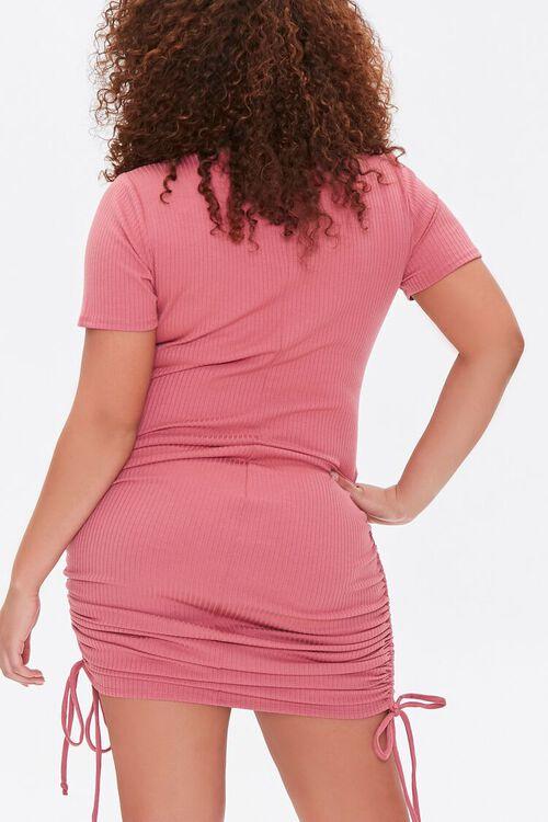 Plus Size Ruched Drawstring T-Shirt Dress, image 3