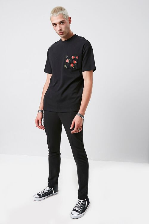 Rose Print Pocket Tee, image 4