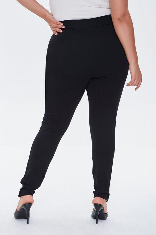 BLACK Plus Size Button Leggings, image 4