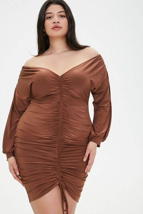 Plus Size Ruched Bodycon Dress, image 1