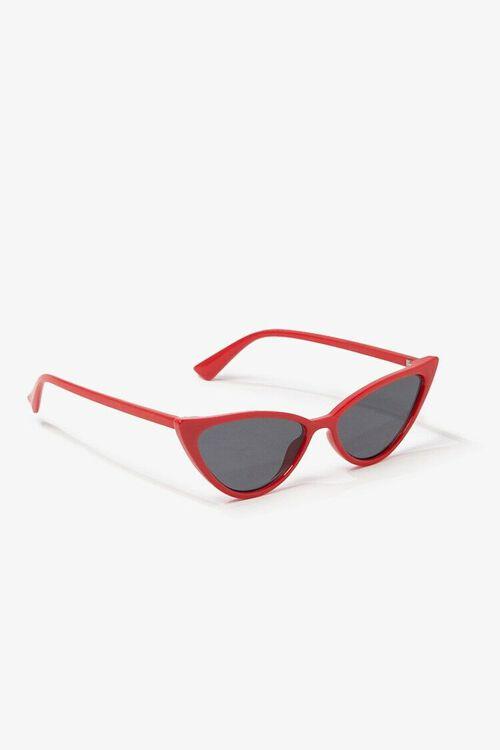 RED/BLACK Tinted Cat-Eye Sunglasses, image 2