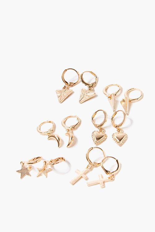 Charm Hoop Earring Set, image 1