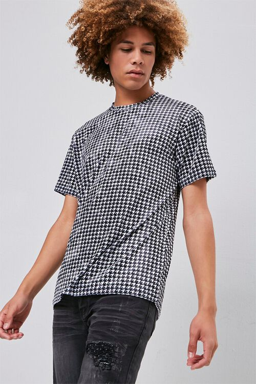 Velour Houndstooth Tee, image 1