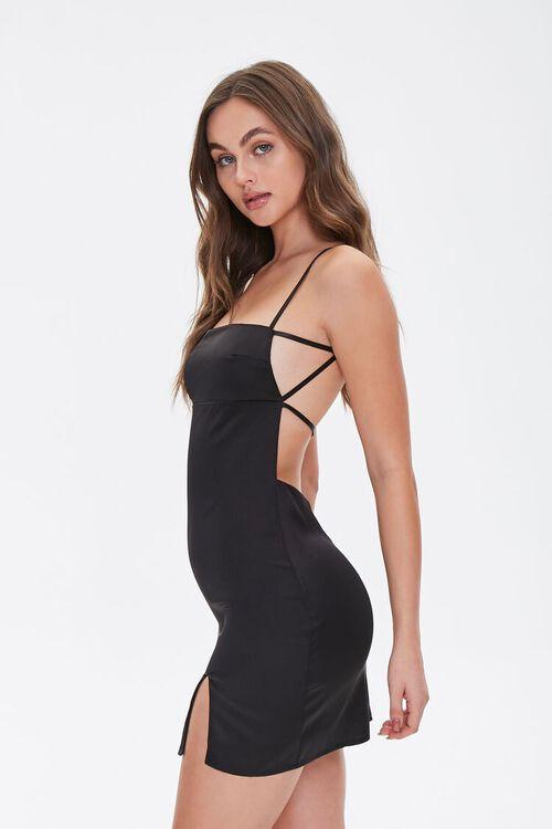 Satin Open-Back Dress, image 3