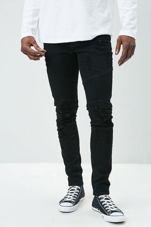 Distressed Moto Jeans, image 2