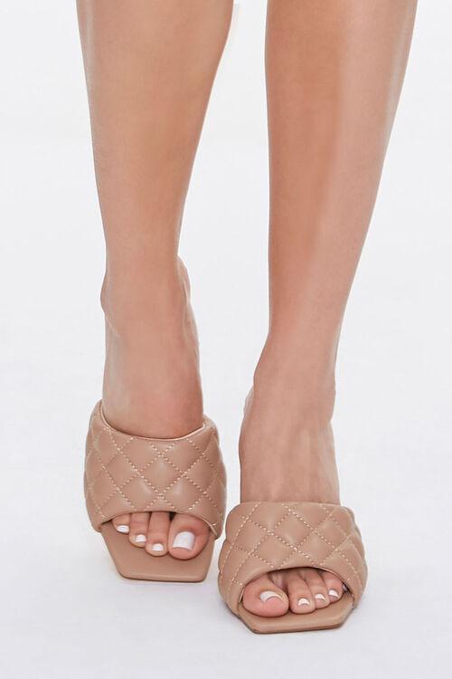 Quilted Open Toe Heels, image 4