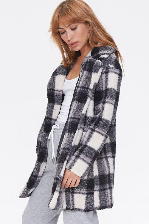 Faux Shearling Plaid Coat, image 2