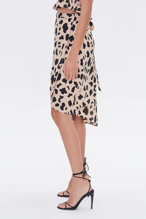 Cow Print Tulip-Hem Skirt, image 3