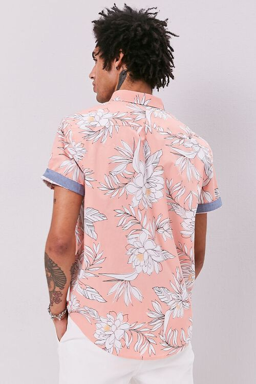 Tropical Print Fitted Shirt, image 3