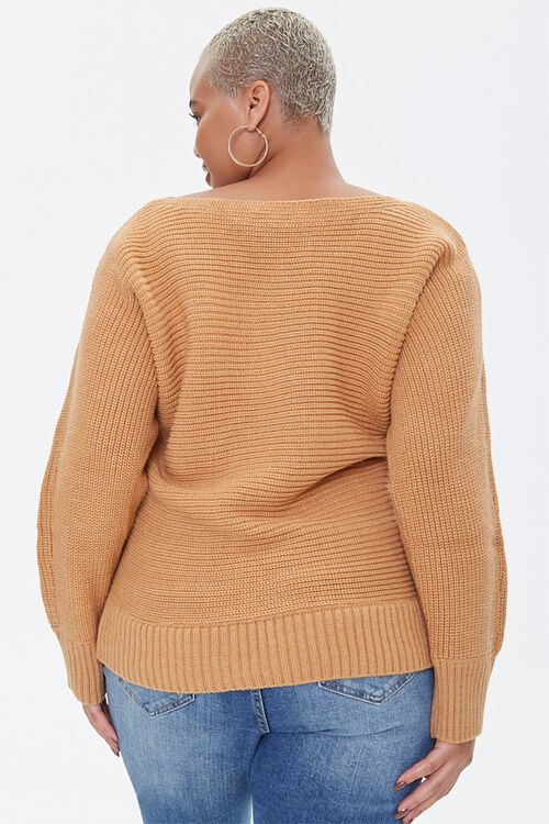 Plus Size Ribbed Knit Sweater, image 3