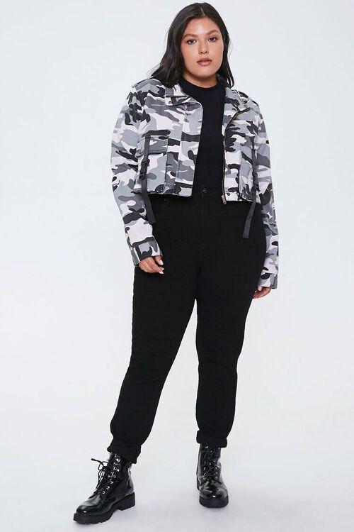 Plus Size Camo Print Jacket, image 4