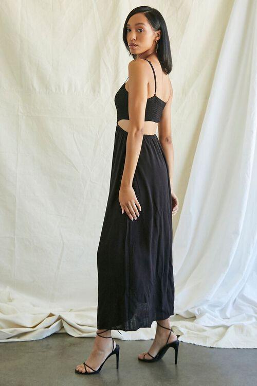 BLACK Smocked Cutout Maxi Dress, image 2