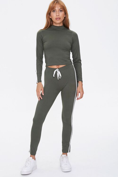 Side-Striped Top & Leggings Set, image 1