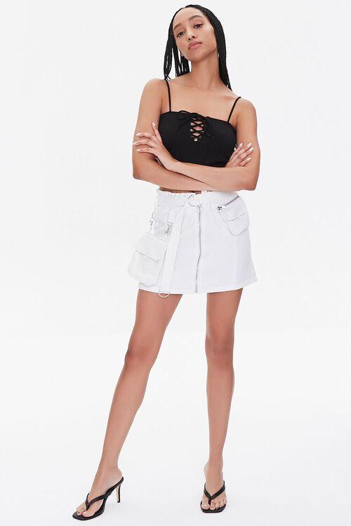 Denim Paperbag Mini Skirt, image 5