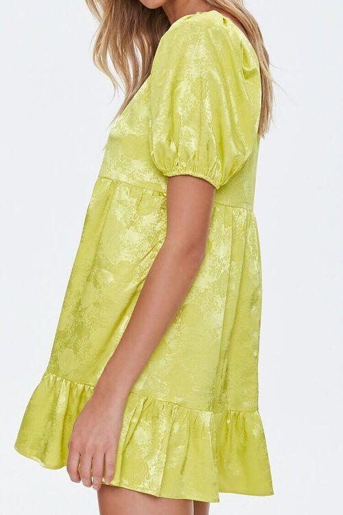 Satin Rose Print Shift Dress, image 2