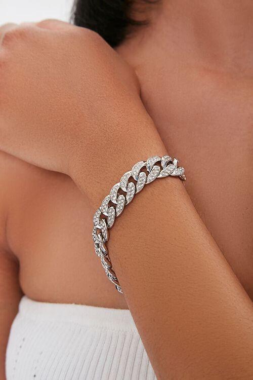 Rhinestone Chain Bracelet, image 1