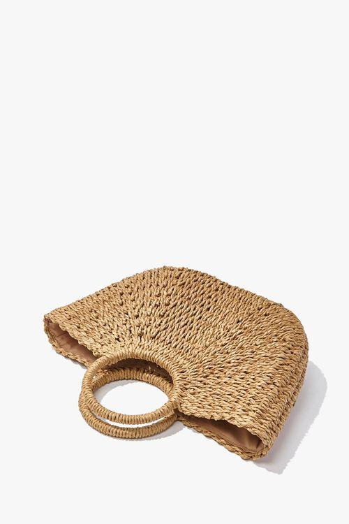 Straw Basketwoven Tote Bag, image 3