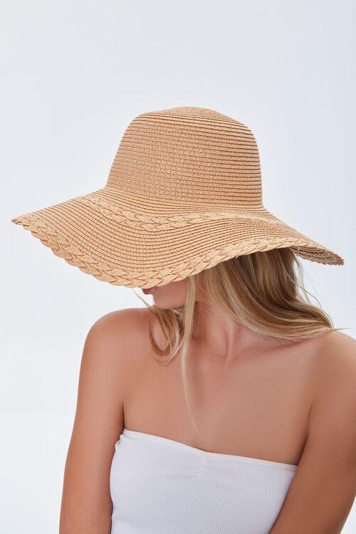 Floppy Faux Straw Hat, image 3