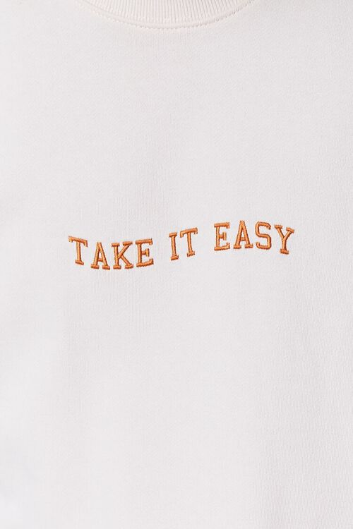 CREAM/YELLOW Take It Easy Embroidered Graphic Pullover, image 5