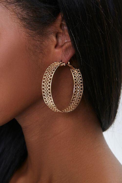 GOLD Filigree Hoop Earrings, image 1