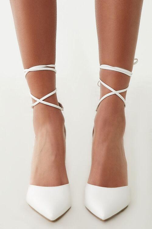 Faux Suede Lace-Up Heels, image 2
