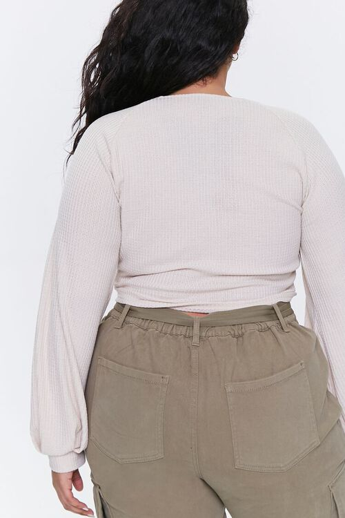 Plus Size Ribbed Crop Top, image 3