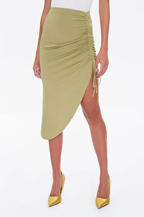 Ruched High-Low Skirt, image 2