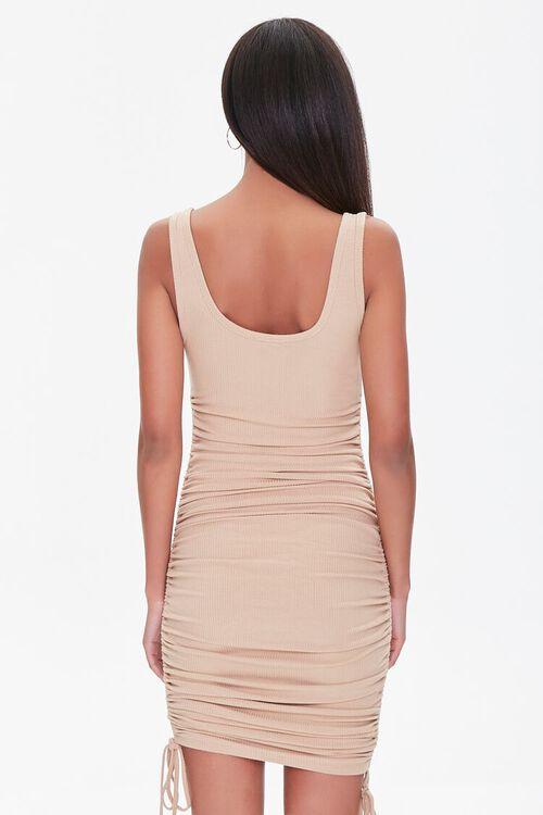 Ruched Drawstring Tank Dress, image 3